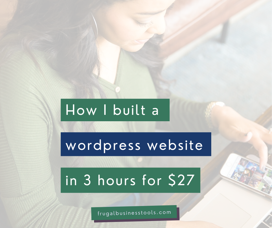 How I built my website in 3 hours for $27