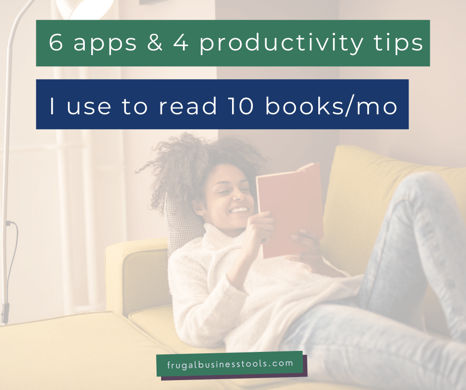 6 apps & productivity hacks I use to read more books